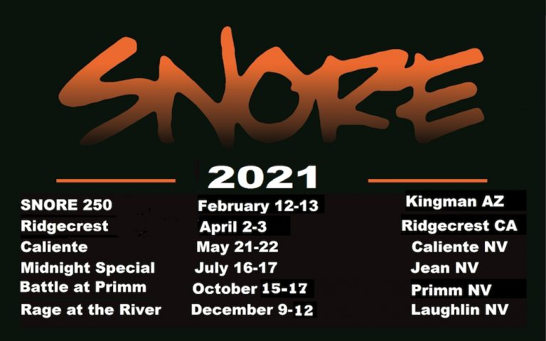 2021 Revised Race Schedule
